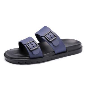 Men's Beach Flats Sandals Slippers Walking Buckle Slingbacks Shoes Flip Flops