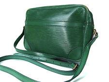 Authentic LOUIS VUITTON Trocadero 24 Green Epi Leather Shoulder Bag Purse 3989a6a4da410