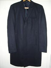 CALVIN KLEIN Mens Winter Navy Blue CROMBIE STYLE COAT/JACKET Size Medium