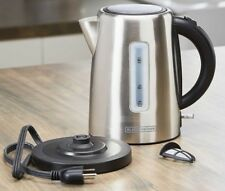 Black & Decker Electric Kettle 1.7L Stainless Steel 360Â Cordless | Tea/Coffee