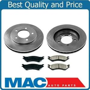 100% Brand New Front Rotors & Ceramic Brake Pads for Ford Expedition 97-98