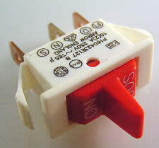 Arrow P160423E127 B White Switch Red Paddle 10A 250VAC SP On/Off/SOS  OM0293V