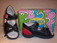 Scarpe sandali Primigi bimbo bambino shoes sandals aperti pelle blu nuovi new 24