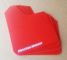 [SR] 04-16 Mazdaspeed 3 & Mazda 3 Mud Guard Flaps STARTER Set RED w/ Vinyl Logo