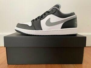 Nike Air Jordan 1 Low Black White Grey 'Shadow' 8, 9, 9.5, 10, 10.5 Authentic ✅