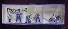 Vintage HO Scale Preiser Lumberjack Figures 42 NIP