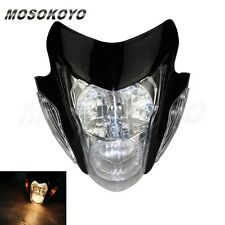 Streetfighter Headlight Lamp Black Motorcycle Bike Fairing Spyder Street Fighter