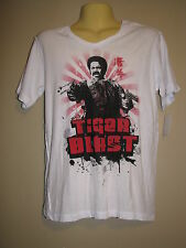 "RT Robbie T Men's ""Tiger Blast"" White Graphic T-Shirt - Size Small - NWT"