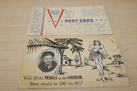 Used 1943 VIntage Rare WWII Postcard Pearl Harbor with Photo Word War II Navy