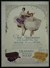 Erasmic Peerless Soap Ballet Ballerina Lewis Baumer 1928 1 Page Advertisement Ad