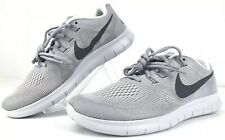 Nike Free 2017 Rn Running Shoes Sz 8 Men's 880839 010 Wolf Gray Sneakers New