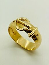 9ct Yellow Solid Gold Buckle Ring