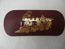 STEAM TRAIN 2 RAILWAY brand new Metal Glasses Case ideal gift for Christmas