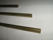 Barra Tubo tondo diam. 8/6mm in OTTONE trafilato lunghezza 1 Mt. TORNIO/FRESA 8