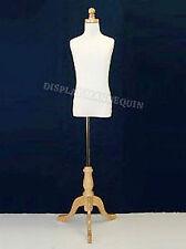 Kids Mannequin 9-10 Yrs Child Dress Form (+)Wooden Base