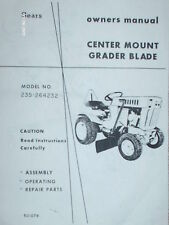 235.264232 Sears Tractor Mid Mount Grader Blade Manual on CD