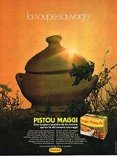 PUBLICITE  1971   MAGGI   soupe au PISTOU