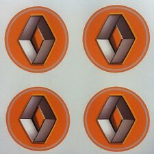 4x 60mm fit renault wheel yellow STICKERS center badge centre trim cap hub alloy