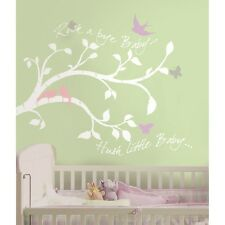 New WHITE TREE BRANCHES WALL DECALS Baby Girl or Boy Nursery Stickers Decor Gift