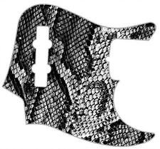 J Bass Pickguard Custom Fender Graphic Graphical Guitar Pick Guard Snakeskin BW