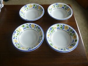 Gibson PETIT JARDIN Hand Painted Cereal Soup Bowls