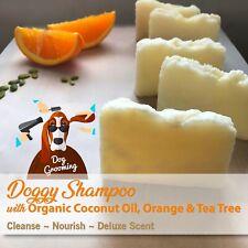Organic Coconut Oil PET SHAMPOO Bar- Orange,Tea Tree-100% Natural-Nourished Coat