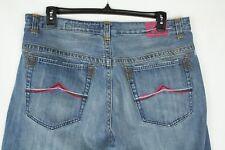Azzure Mens Jeans Love Life Denim 38W x 34L Straight Leg w/ Dirt Print
