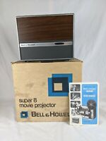 Vintage Bell & Howell Autoload Super 8 Film Projector Model 456 w Box and Manual