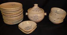 Service de table 35 pièces céramique Marocain Assiettes Soupière Bols