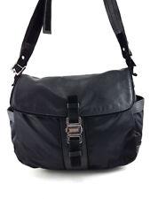 Furla Black Leather and Nylon Shoulder Bag