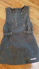 Girls Calvin Klein Size Large Gray Wool Buttons A Line Dress Fall Winter 4T