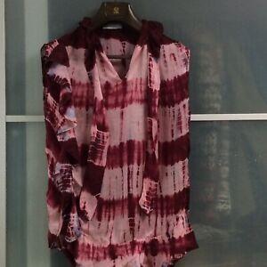 Sandro Paris Shirt  2 / 36 Bluse Batik Seide