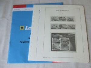 LIGHTHOUSE GREAT BRITAIN ILLUSTRATED & HINGELESS STAMP ALBUM PAGES,VARIOUS YEARS
