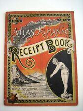 "1884 &1885 Atlas, Almanac & Receipt Book w/ Calender's ""Centaur Liniment Co.""*"