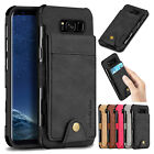 For Samsung S10/S9+/S8/Note10+ Leather Card Holder Wallet Case Shockproof Cover