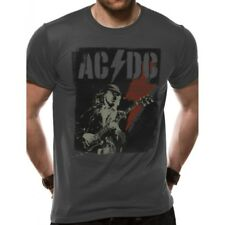 Official T Shirt Ac/dc Grey Angus Flash Band Tee All Sizes