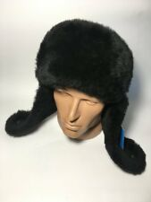 Gorgeous 100% Leather Real Sheepskin Hat Genuine Leather Mens Winter Hat