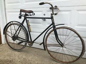 Antique 1918 Columbia Superb Model 804 Shaft Drive Wood Rim Bicycle