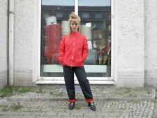 Damen Thermohose Bundfaltenhose schwarz rot 80er TrueVINTAGE 80s winter pants