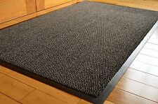 Barrier Mat Large Grey /Black Door Mat Rubber Backed Medium Runner 80 x 140 cm