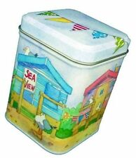 Emma Ball Coastal Beach Huts Seaside Small Lidded Storage Tin