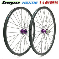 29er Custom Hand Built Carbon Wheels Wheelset 30mm 32H Hope Pro 4 DT Nextie New