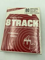 Realistic 80 Minutes Recording Tape - 8 Track Tape - SEALED Condition NOS