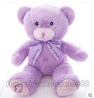 New 45cm Mini lavender Teddy Bear Purple Soft Plush Baby Toys Doll Birthday Gift
