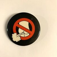 No Farting Pin Vintage 80's Rare Pin Back Button Funny Poop Gag Party Clown Toy