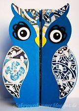 Sizzix Thinlits Owl Fold-a-long Card 6-pk set #661138 Retail $19.99 by Jen Long