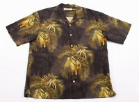 Mens Tommy Bahama 100% Silk Palm Tree Hawaiian Shirt Size L Large