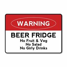 Beer Fridge Sticker Decal Car Mailbox Bin Label Jar Can Van Truck