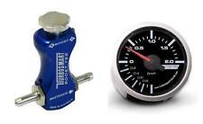 Turbosmart 52mm Boost Gauge Bar y controlador de refuerzo de manual Turbosmart Azul