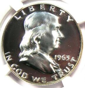1963 PROOF Franklin Half Dollar 50C Coin - NGC PR69 (PF69) - $550 Value!
